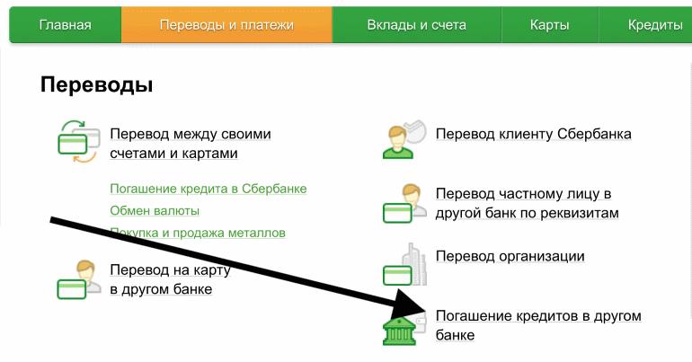 Оплата кредита в Уралсиб через Сбербанк онлайн